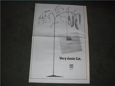1972 CAT STEVENS EARLY SONGS POSTER TYPE AD
