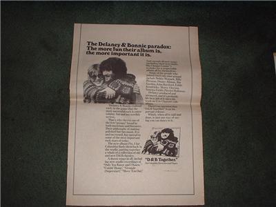 1972 DELANEY & BONNIE POSTER TYPE AD
