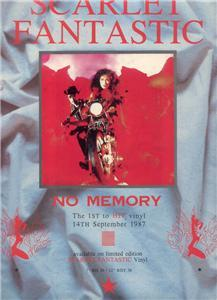 SCARLET FANTASTIC NO MEMORY POSTER TYPE AD