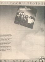 THE DOOBIE BROTHERS ONE STEP CLOSER PROMO AD 1980