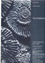 THE SUNDAYS POSTER TYPE AD - $8.99