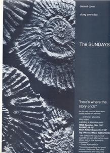 THE SUNDAYS POSTER TYPE AD
