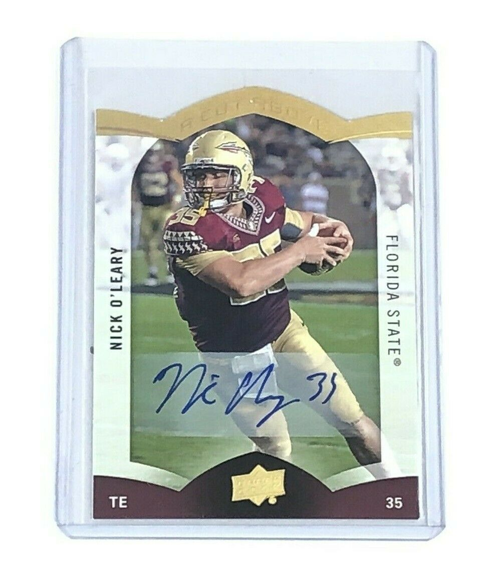 Primary image for 2015 Upper Deck A Cut Above NFL Football Autographed Card by Nick O'leary