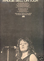 MAGGIE BELL ON TOUR POSTER TYPE PROMO AD 1974