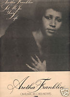 ARETHA FRANKLIN LET ME IN YOUR LIFE PROMO AD 1974