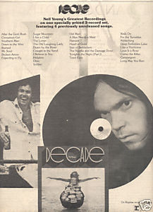 NEIL YOUNG DECADE POSTER TYPE PROMO AD 1977