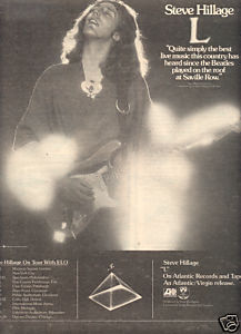 STEVE HILLAGE L POSTER TYPE TOUR AD 1977