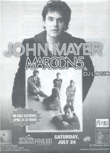 JOHN MAYER CONCERT AD MAROON 5