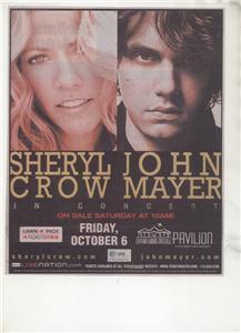 JOHN MAYER CONCERT AD SHERYL CROW