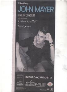 JOHN MAYER LIVE IN CONCERT AD