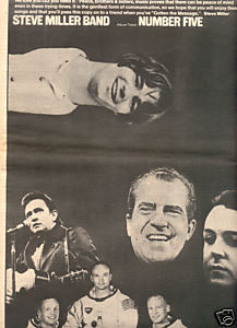 1970 STEVE MILLER BAND NUMBER FIVE POSTER TYPE AD