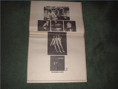 1970 CREAM LIVE CREAM POSTER TYPE AD
