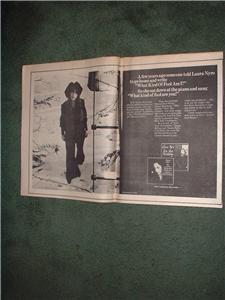 1970 LAURA NYRO POSTER TYPE AD