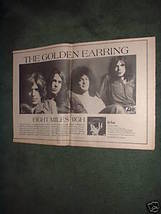 1970 THE GOLDEN EARRING EIGHT MILES HIGH POSTER TYPE AD - $19.99