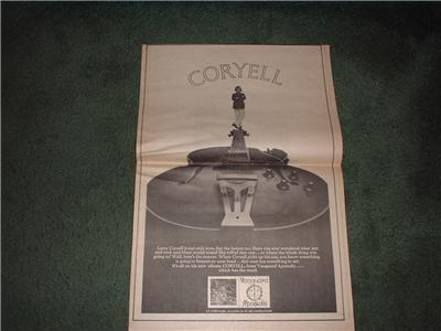 1970 LARRY CORYELL POSTER TYPE AD