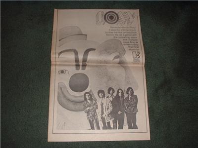 1970 ROXY POSTER TYPE AD