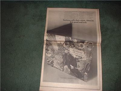 1970 SANTANA ABRAXAS CARLOS SANTANA POSTER TYPE AD