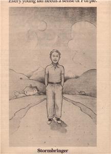 1974 DEEP PURPLE STORMBRINGER POSTER TYPE AD