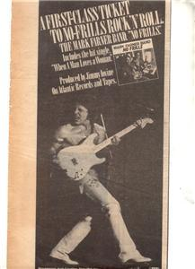 1978 MARK FARNER BAND NO FRILLS POSTER TYPE AD