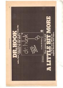 1976 DR HOOK A LITTLE BIT MORE POSTER TYPE AD