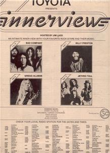 1975 TOYOTA INNERVIEW BAD COMPANY ALLMAN POSTER TYPE AD
