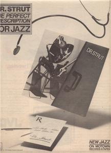 1979 DR STRUT THE PERFECT PRESCRIPTION POSTER TYPE AD