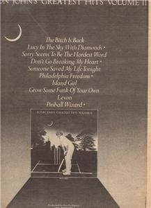 1977 ELTON JOHN GREATEST HITS VOLUME II POSTER TYPE AD