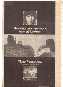 1978 AL STEWART TIME PASSAGES POSTER TYPE AD