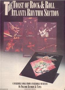 1978 ATLANTA RHYTHM SECTION CHAMPAGNE POSTER TYPE AD
