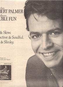 1978 ROBERT PALMER DOUBLE FUN POSTER TYPE AD