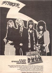 1978 STRIKER POSTER TYPE AD