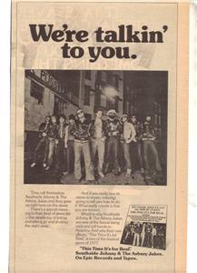 1977 SOUTHSIDE JOHNNY AND THE ASBURY JUKES AD