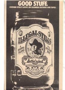 1976 STEPHEN STILLS GOOD STUFF POSTER TYPE AD