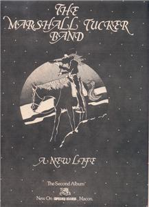 THE MARSHALL TUCKER BAND A NEW LIFE POSTER TYPE AD