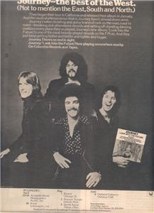 1976 JOURNEY LOOK INTO THE FUTURE POSTER TYPE TOUR AD