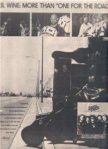 1979 APRIL WINE FIRST GLANCE POSTER TYPE AD