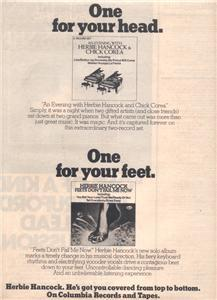 1979 HERBIE HANCOCK FEETS DONT FAIL ME POSTER TYPE AD