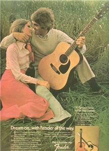 1974 FENDER F SERIES CLASSIC GUITAR POSTER TYPE AD