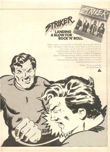 1978 STRIKER PUT UP YOUR DUKES POSTER TYPE AD