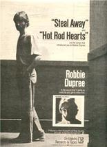 1980 ROBBIE DUPREE POSTER TYPE AD - $8.99
