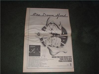 1973 JO JO GUNNE BITE DOWN HARD POSTER TYPE AD