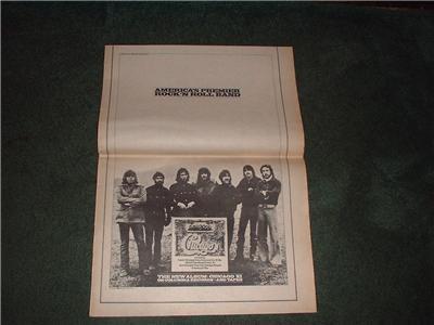 1973 CHICAGO VI POSTER TYPE AD