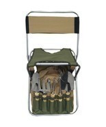 Outdoor Gardening Tools Set Foldaway Stool Backrest Detachable Tote 9 Pi... - £62.69 GBP