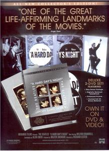 THE BEATLES A HARD DAYS NIGHT POSTER TYPE AD
