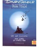 DAVID GILMOUR PINK FLOYD ON AN ISLAND POSTER TYPE AD - $7.99