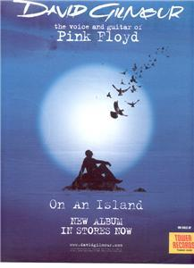 DAVID GILMOUR PINK FLOYD ON AN ISLAND POSTER TYPE AD