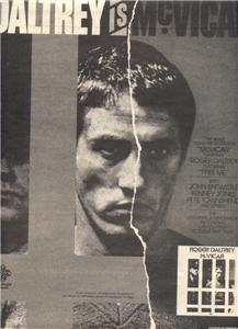 1980 ROGER DALTREY MCVICAR POSTER TYPE AD