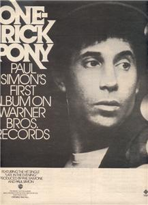 1980 PAUL SIMON ONE TRICK PONY POSTER TYPE AD