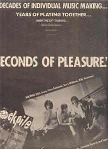 1980 ROCKPILE SECONDS OF PLEASURE POSTER TYPE AD