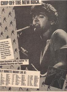 1980 BILLY BURNETTE TOUR DATE POSTER TYPE AD